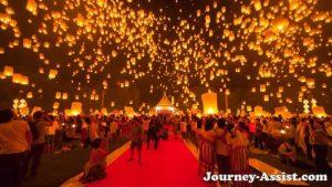 Loy Karthong festival tany Thailand