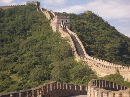 The great Wall of China. One of the New Wonders of the World is the Great Wall of China. One of the New Wonders of the World