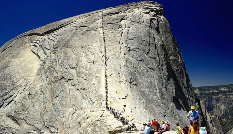 Канатная дорога Хаф-Доум, Калифорния, США. (Half Dome Cable Route)
