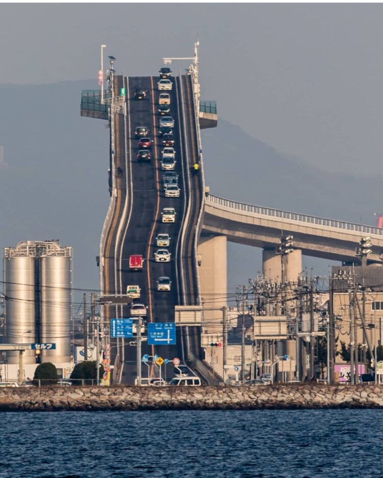 Мост Эшима Охаси, Япония. (Eshima Ohashi Bridge)